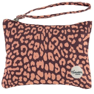 leopard only rood clutch luipaard print