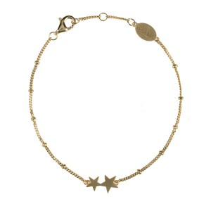 starry nights armband goud sterren
