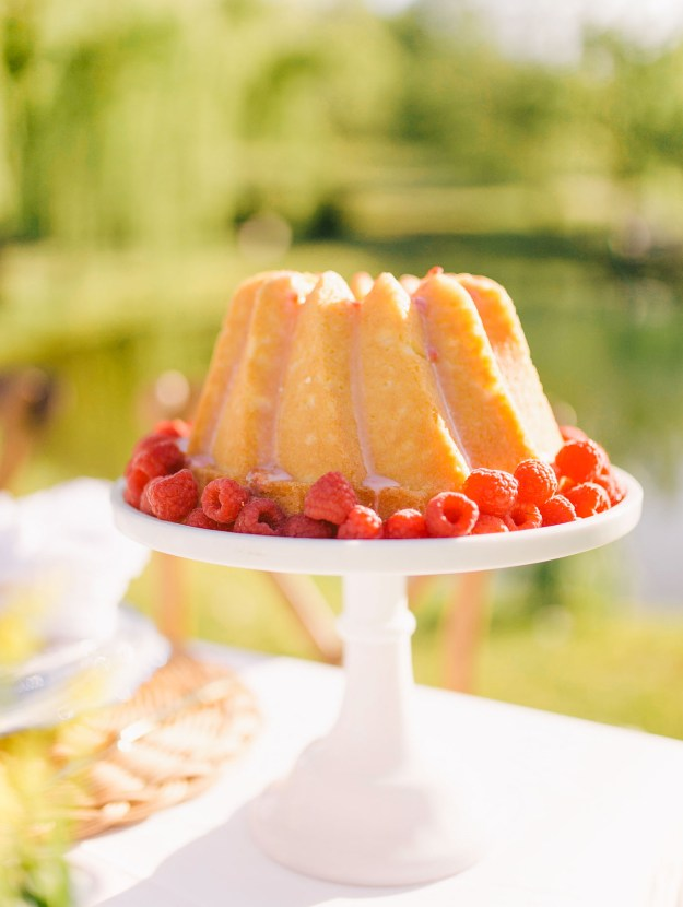 A lemon raspberry bundt cake recipe by Lauren Cermak of the Southern Lifestyle Blog, Going For Grace. The perfect sweet for summer!