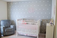 DIY Polka Dot Nursery Wall | By Lauren M