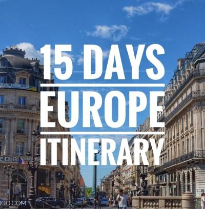 Lịch trình du lịch Châu Âu 15 ngày