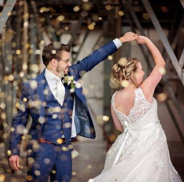 Bruidskapsel en visagie by linn