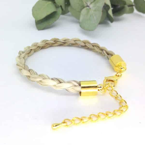 Bracelet en crin plaqué or guccio