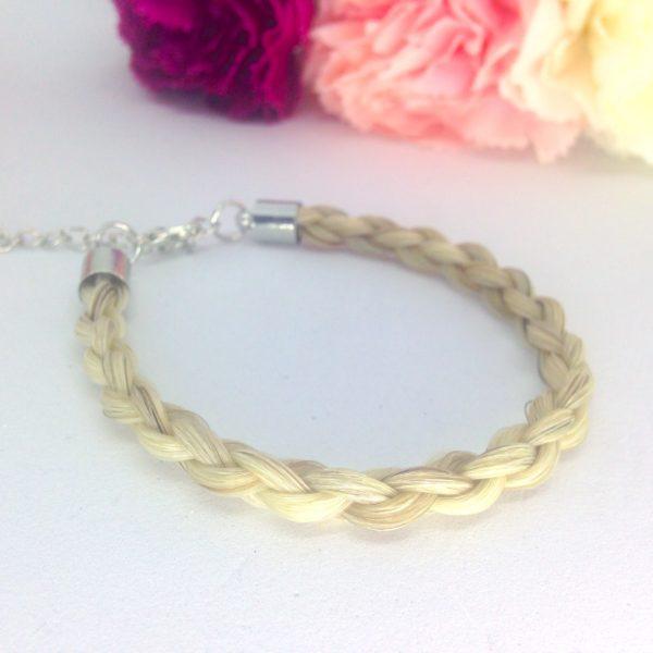 Bracelet en crin Toulago argente 3D