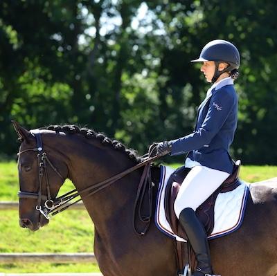 Maud Cestari à cheval