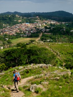 walking to amedzofe, Ghana, from mt gemi