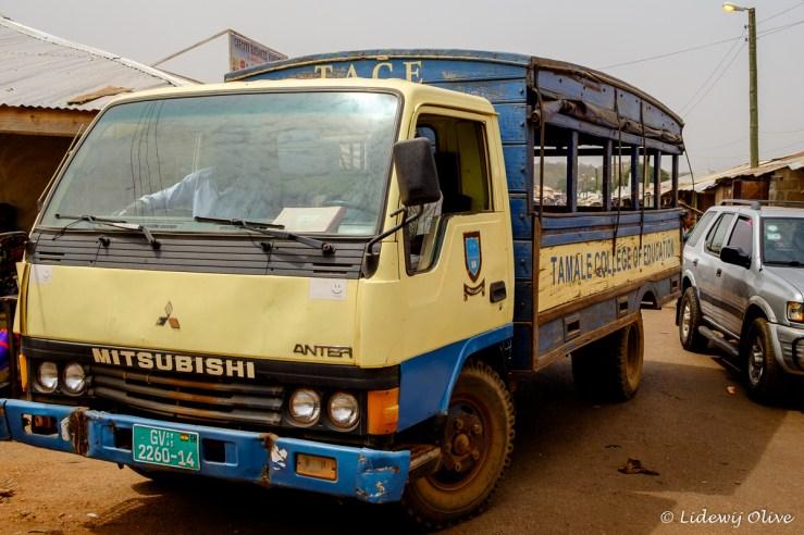 Schoolbus in Tamale, Ghana