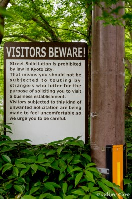 Sign: visitors beware!