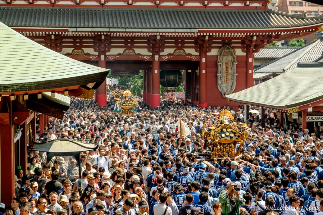 Very busy at Sanja Matsuri