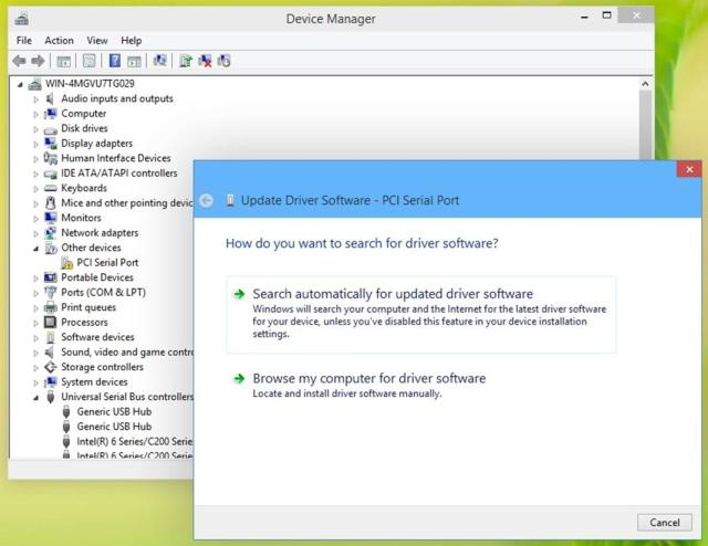 Update driver software - Installing and updating hardware drivers in Windows 10