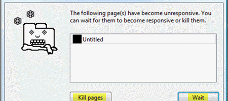 google chrome kill pages or wait