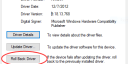 Roll back drivers in Windows 10