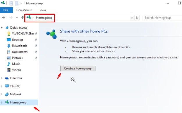 File sharing or HomeGroup not showing on Windows 10 version 1803