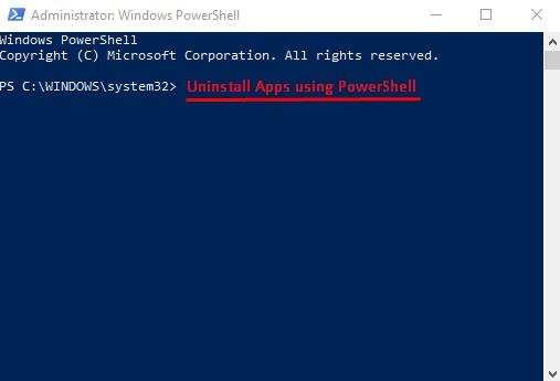 Uninstall Universal Apps usning PowerShell in Windows 10