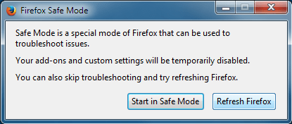 SafeMode-Firefox crashing plugin container has stopped working