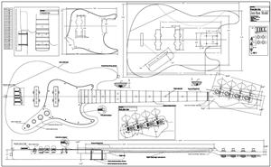 Woodguide: 5 string bass guitar plans Diy
