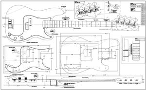 Wood Working: Free bass guitar body plans