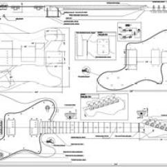 P Bass Body Dimensions 2000 Sv650 Wiring Diagram Guitar Plans Bodies And Kits From Byoguitar Full Scale Tele Deluxe Byoplan
