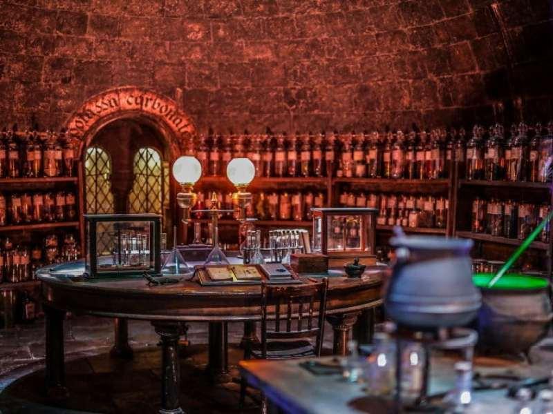 Studios Harry Potter Londres salle des potions