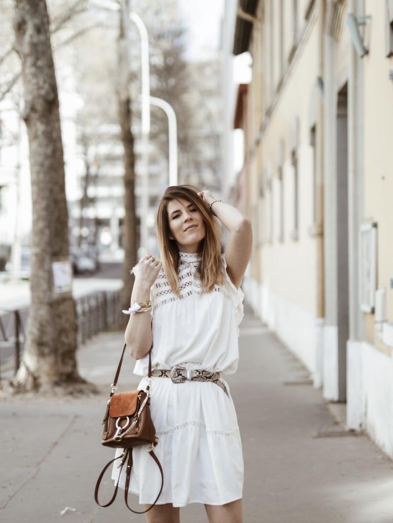 Look femme casual printemps robe Ba&sh Zenna blog mode Lyon France By Opaline