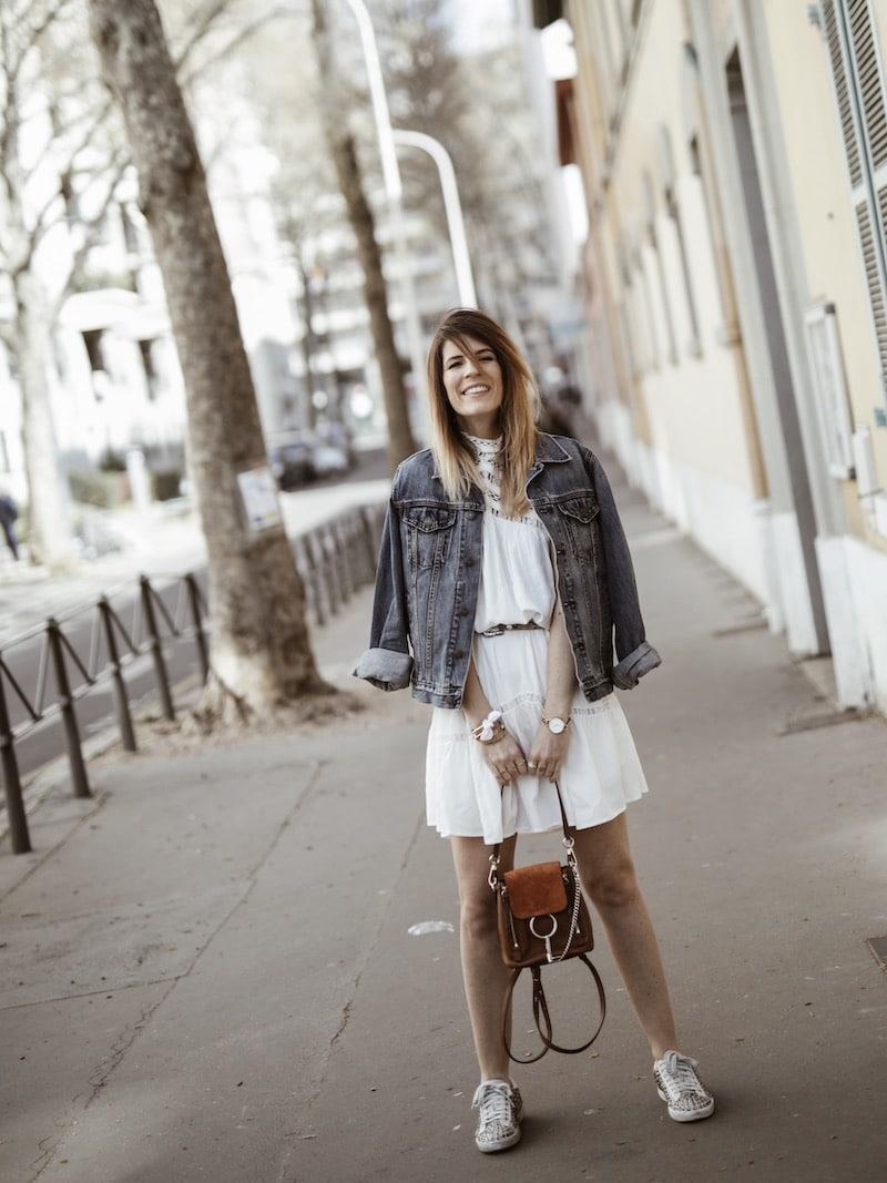 Look femme casual printemps sac à dos Chloé Faye blog mode Lyon France By Opaline
