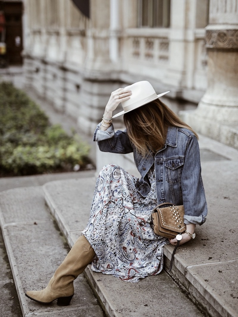 Look femme printemps 2019 robe bohème Zara sac Jimmy Choo blog mode By Opaline Lyon France