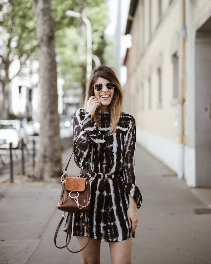 Look femme printemps 2019 santiags robe bohème By Opaline blog mode Lyon France