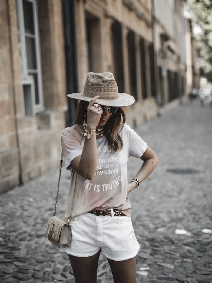 Look femme été 2019 chapeau Lack of Color short Ba&sh blog mode France Lyon By Opaline