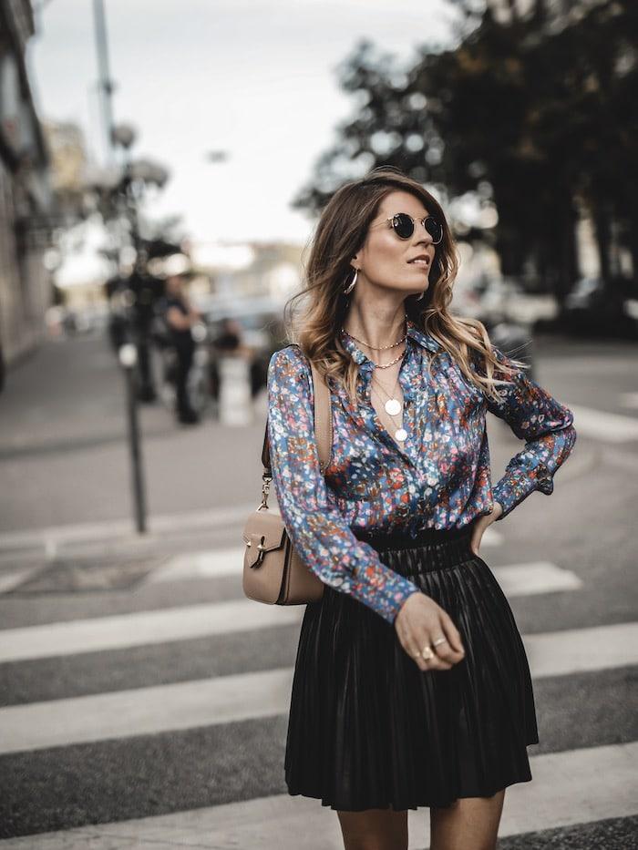 Look femme inspiration chemise fleurie Ba&sh blog mode Lyon France By Opaline