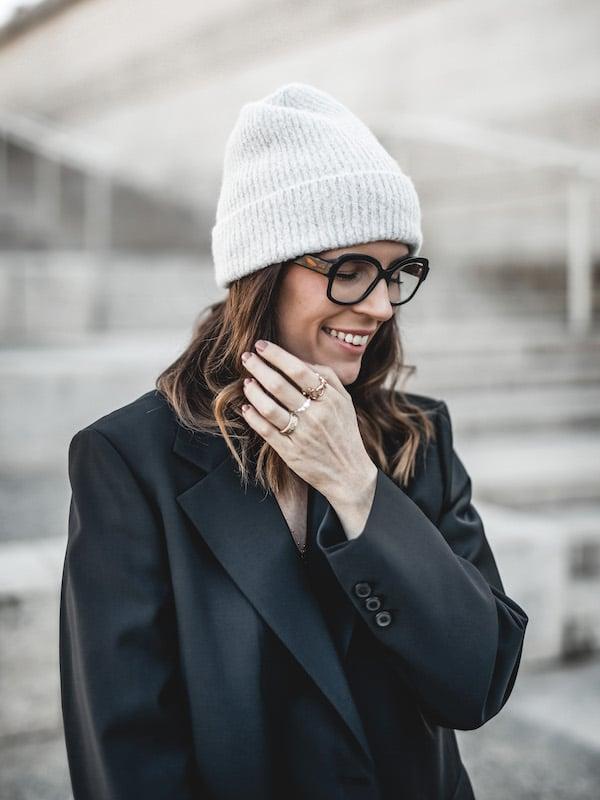 Inspiration look femme portrait lunettes rançois Pinton made in France
