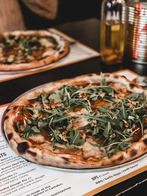 Meilleures adresses londoniennes young vegans pizza shop Londres