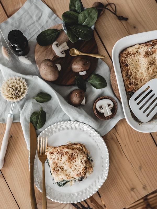 Recette végétarienne lasagnes épinards ricotta et champignons