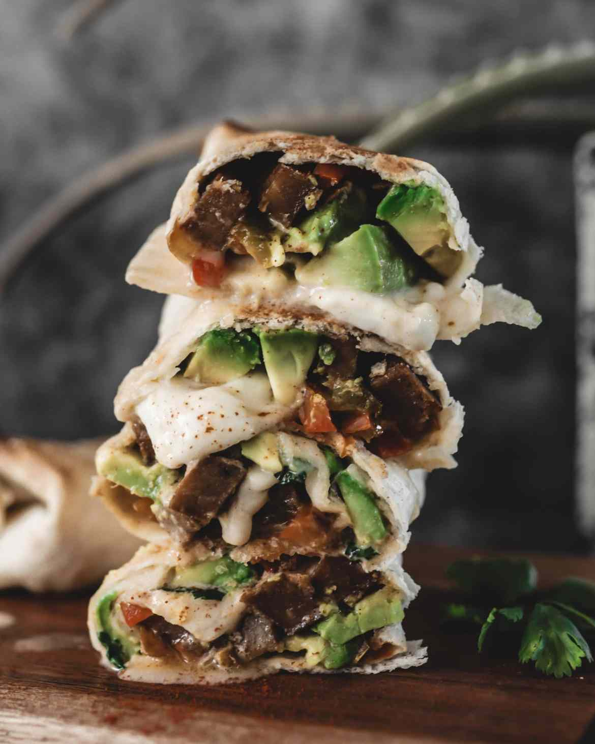 Recette burritos végétariens seitan