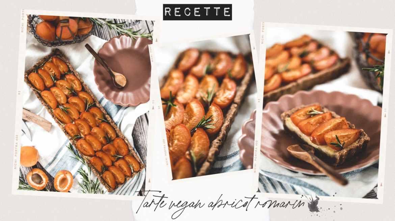 Recette tarte vegan abricots romarin