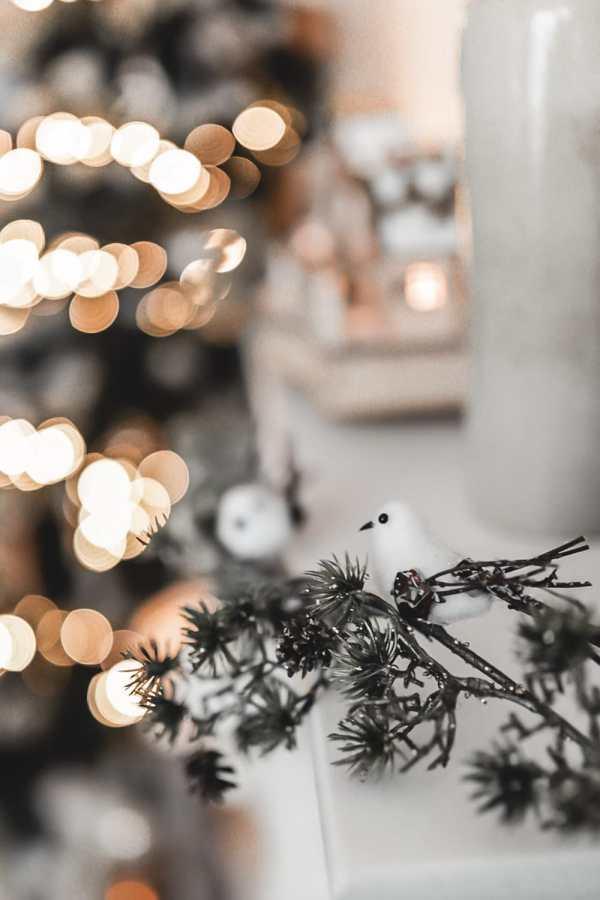 Ma décoration de Noël nature dans un esprit forêt féérique, dans les tons bruns, beiges, verts et or.