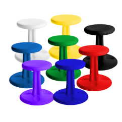 Portable Wobble Chair Exercises White Resin Folding Chairs Bulk Kore Kids 14 H