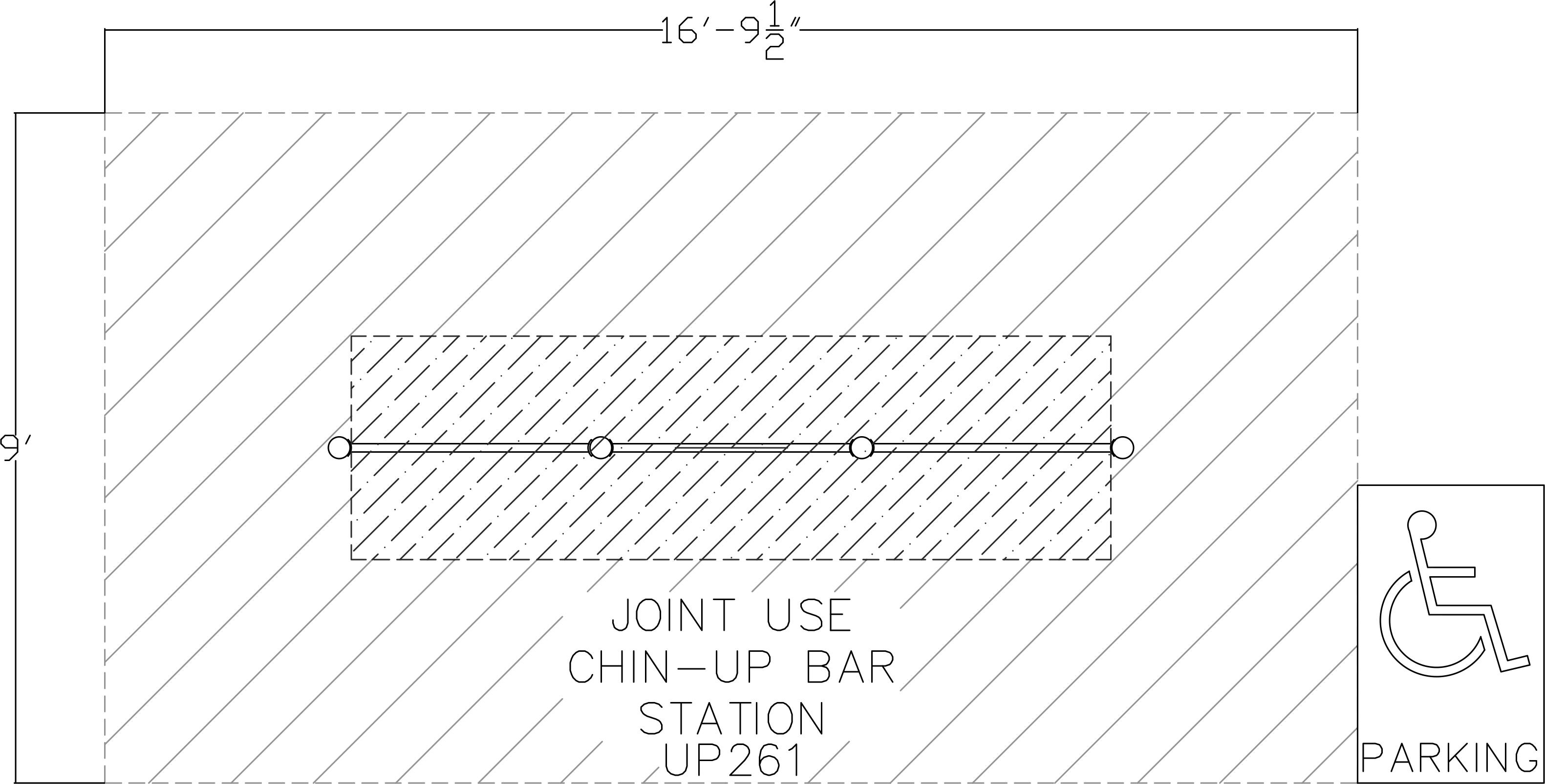 3 Level Chin-Up Bar Station