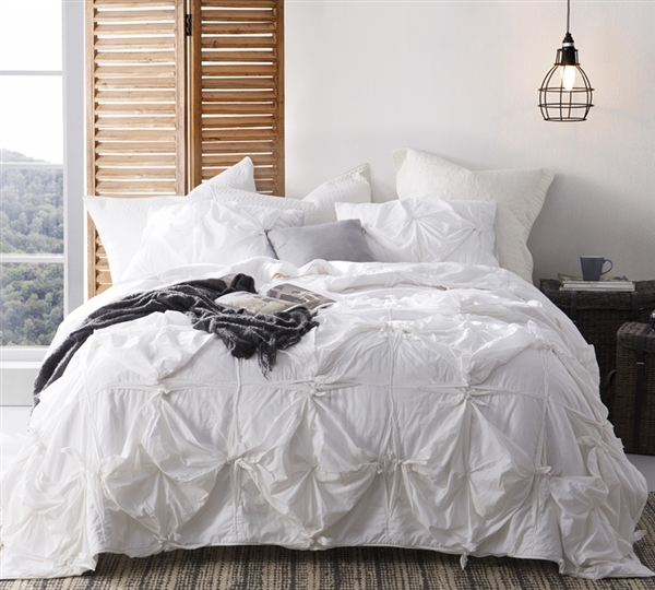 Extra long King sized Comforter in white  white comforters in extended King Size creates
