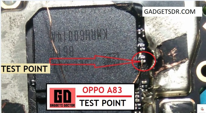 Oppo A83 CPH1827 Test Point to Pattern Unlock Remove