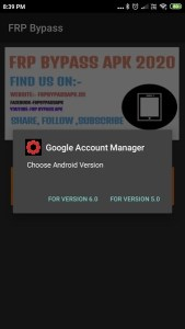 install google account manager in frp bypass apk to Xiaomi Redmi FRP Bypass - Unlock Google Account