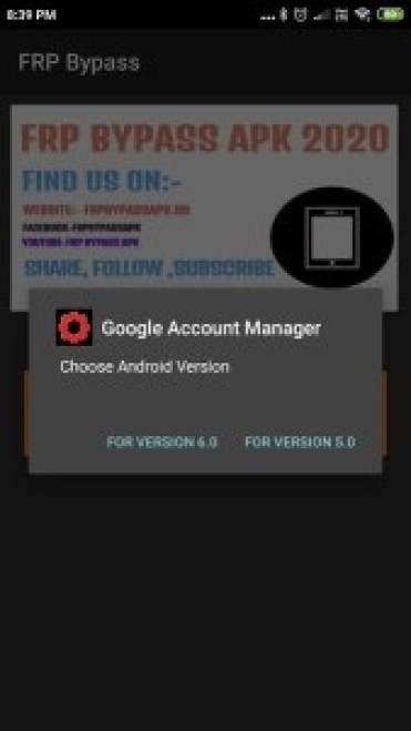 install google account manager in frp bypass apk