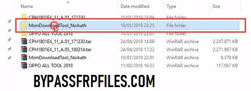 MSM Download tool extracted folder