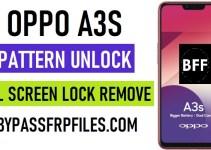 Oppo A3s Pattern Unlock (User Lock Remove Screen Password) Latest 2020