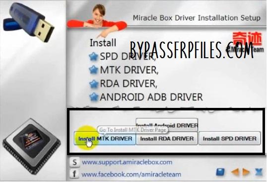 Miracle box mTK driver install
