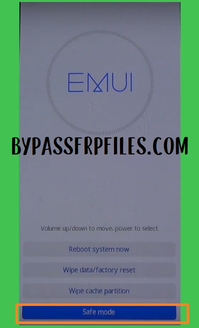 Huawei Safe mode to huawei/ honor frp bypass and unlock