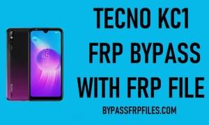 Tecno Kc1 FRP Unlock