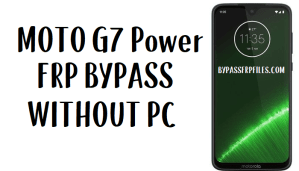 Moto G7 Power FRP Bypass - Unlock Google Account (Android 9)