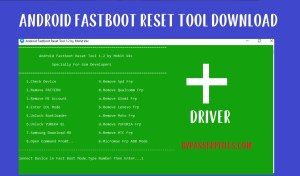 Android Fastboot Reset tool v1.2 and Driver