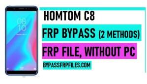 HomTom C8 FRP Bypass - Unlock Google Account Lock