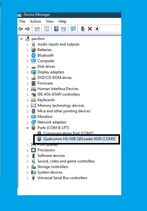Qualcomm HS-USB QDLoader 9008 Driver